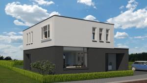 ontwerp eigentijdse woning te Borne - voorgevel links