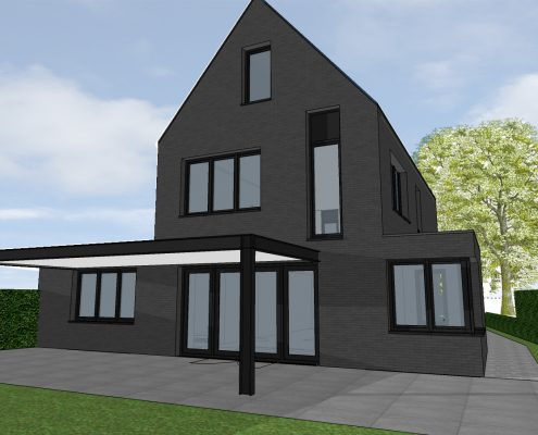nieuwbouw eigentijdse woning